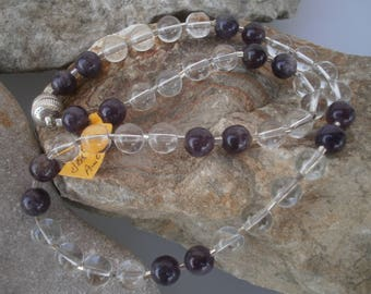 """Mountain Crystal Necklace """"Summer Dream"""" #310"""