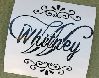 Custom Name Decal, Name Decal, Name Sticker, Monogram Decal, Personalized Decal, Decal for Notebook, Decal for Mirror, Name Custom Decal