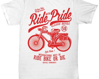 Ride With Pride Classic Bicycle T-shirt