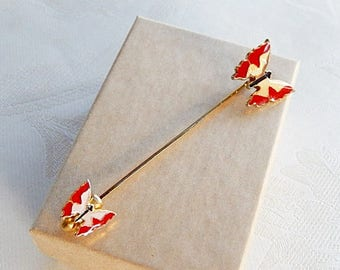Butterfly Lapel Pin, Vintage Stick Pin, Gift for Her