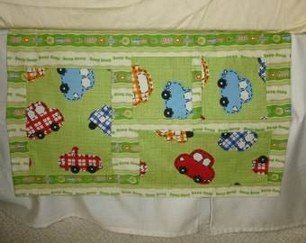SALE - Green Transportation Themed Changing Table Organizer