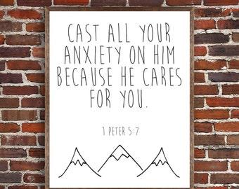 PRINTABLE 1 Peter 5:7