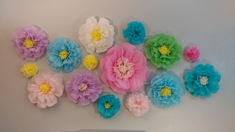 Spring Flowers Tissue Paper Flowers Wedding Decor Shower