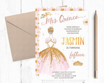 Shabby chic quinceanera invitation printable paris quinceanera birthday invitation quinceanera invitations quinceanera invites quiceanera invite solutioingenieria Choice Image