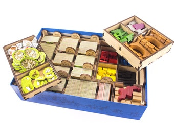 Carcassonne board game, wood insert, organizer game