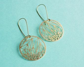 Circle Geometric Earrings | ATL-E-218