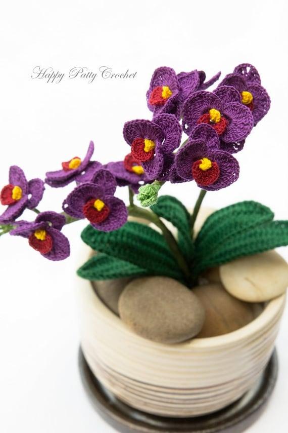 Small orchid flower pattern crochet flower pattern crochet like this item ccuart Gallery