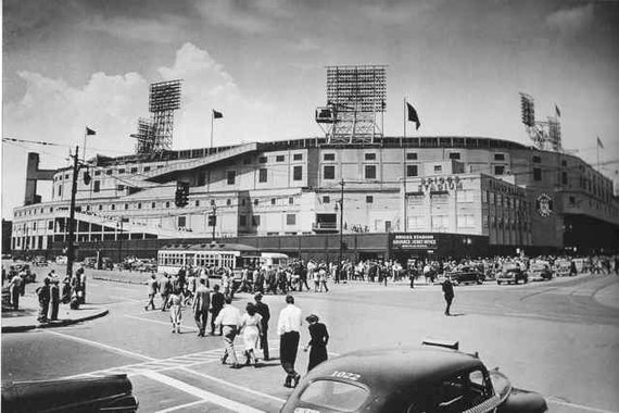 Old Detroit Photography Tiger Stadium Briggs 1940s