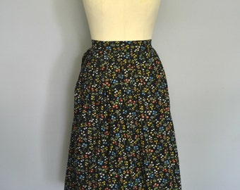 1950s Pleated Floral Skirt
