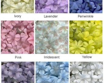 100 Hydrangea Fabric Petals - Wedding Flower Girl - Scrapbooking - Crafts - Home Decor