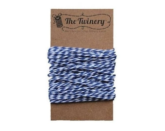 Blue and White Bakers Twine - Midnight Twist - 15 Yard Bundle