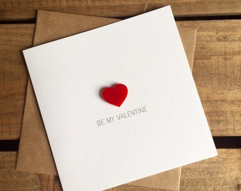 Be my Valentine - Valentine's Day Card with Magnetic Love Heart Keepsake