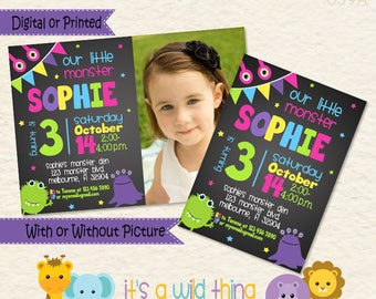Monster Birthday Invitation for your Little Monster Bash • Girl Monster Invitation • Monster Party Theme • Toddler Birthday Ideas • 039b