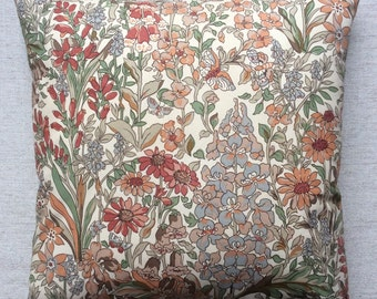 "Vintage Liberty Of London Fabric Cushion ""Penelope"" 40cm x 40cm"