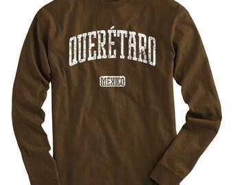 LS Queretaro Mexico Tee - Long Sleeve T-shirt - Men S M L XL 2x 3x 4x - Gift for Men, Queretaro Shirt, Santiago de Queretaro, FC, City