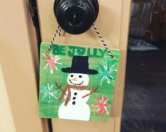 Country Christmas door hanger
