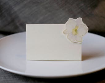 White Orchids - Wedding Place Card - Gift Card - Table Number Card - Menu Card -weddings events
