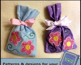 ITH Flowers Treat Bag - Easter Gift Bag - Easter Treat Bag - Machine Embroidery Design