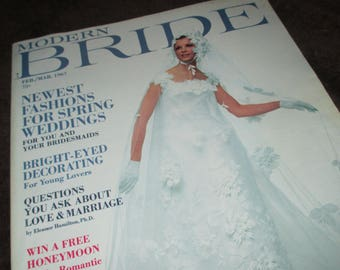 Vintage Modern Bride Magazine February March 1967