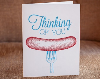 Thinking Of You Letterpress Card - Weener