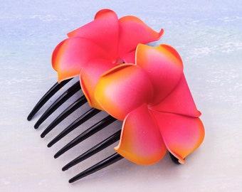 Flower Hair Comb,  Choose The Color, Hair Combs, Plumeria Flower, Beach Wedding