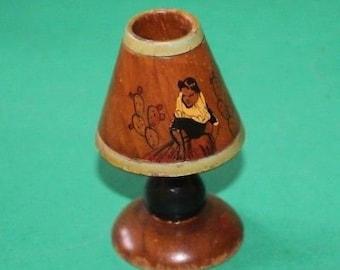 Vintage Dolls House Lamp Signed KM216
