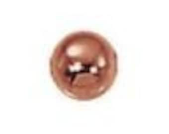 4mm Solid Copper Round Beads (100) Bright Finish