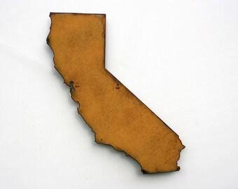 "California map metal wall art - 20"" tall CA - choose your color - USA map state wall art California art los angeles hollywood san francisco"
