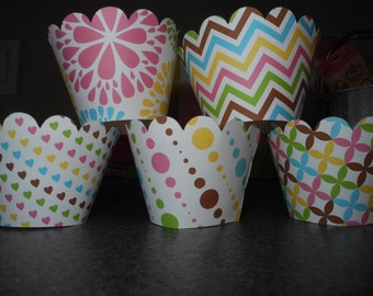 Cupcake Wrappers  Set of 12