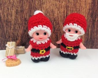 Digital Santa Kewpie Costume Crochet Pattern (Pattern ONLY not the finished doll)