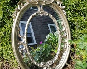 Ornate, Italian, antiqued silver/gold resin frame