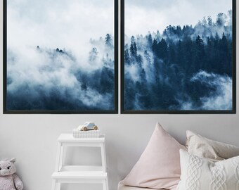 Large Wall Art Printable Art Home Decor Landscape Photography Gift For Men Office Decor Digital Download Boyfriend Gift Mountain Forest
