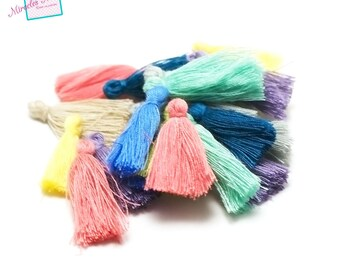 20 25 mm, assorted color cotton tassel
