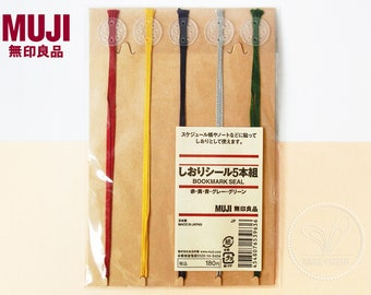 Set of 5 - Muji Rayon String Bookmark Seal