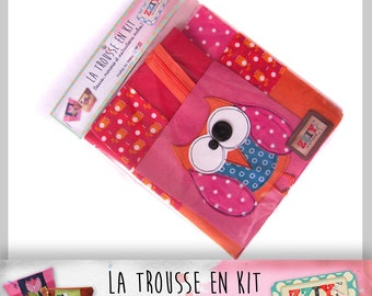 Kit Kit of zig zag OWL pink and Orange (final size: x H20 x L28 base 18 x 12)