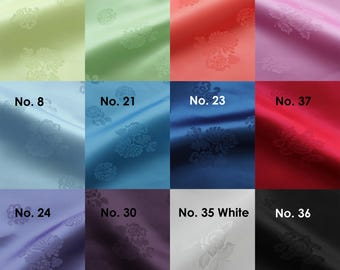 "Korean Traditional Pattern Fabric for Hanbok Dress Table Cloth For Dol First birthday 22"" Wide 1YD"
