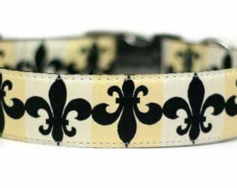 Custom Dog Collar - Fleur-de-lis / Martingale Dog Collar