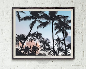 Palm Tree Print, tropical decor, palms, palm, california art, summer decor, modern print, palm trees photo, Palm Tree Photography, vacation