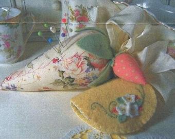 Crabapple Hill Vintage Strawberry Pincushion Pattern by Meg Hawkey