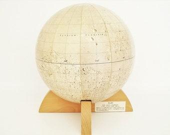Vintage Mars Globe c1981 Replogle Very Rare