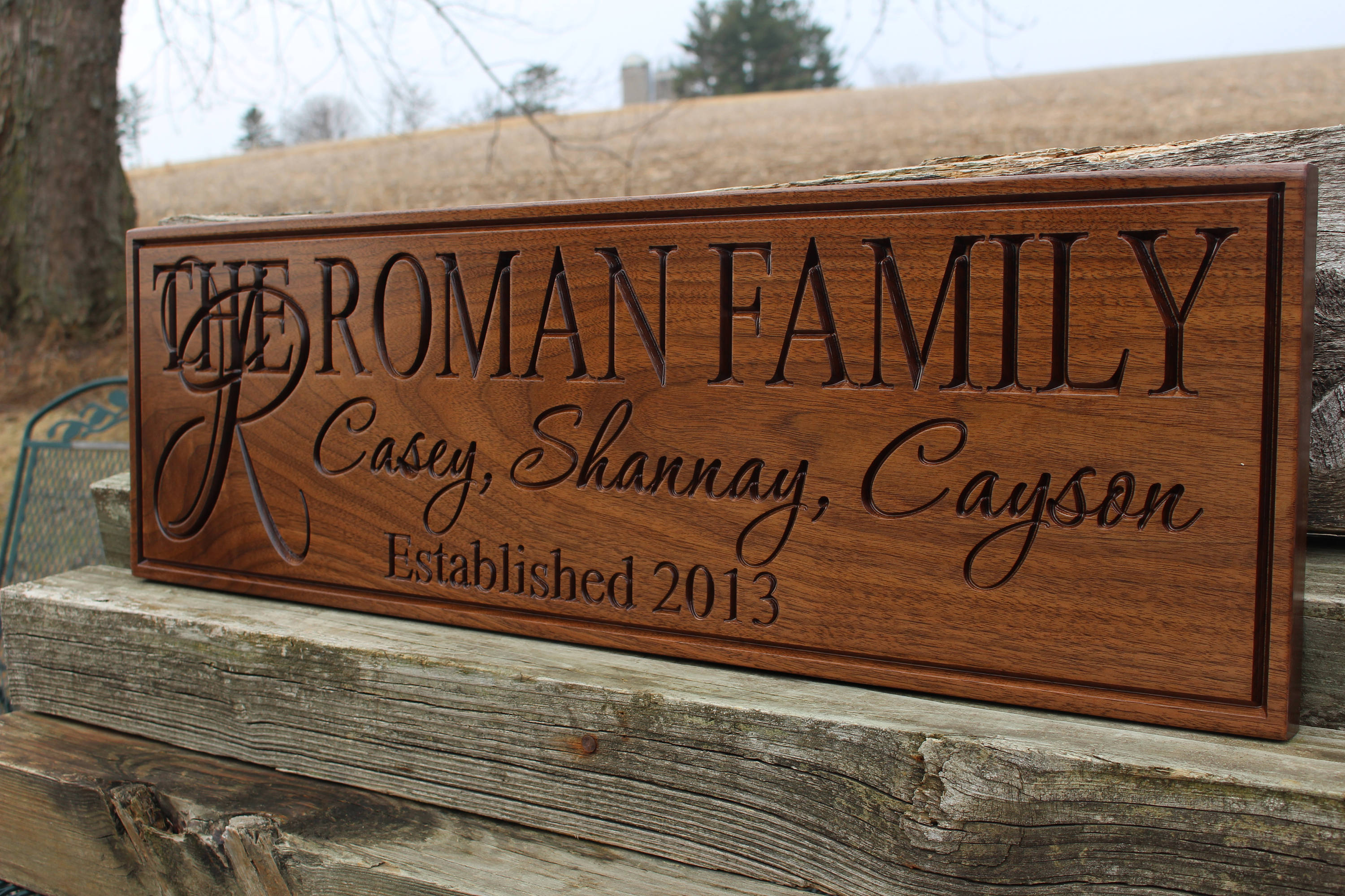 wood custom signs personalized
