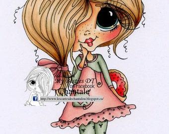 INSTANT DOWNLOAD Digital Digi Stamps Big Eye Big Head Dolls NEW Besties img706 My Besties By Sherri Baldy