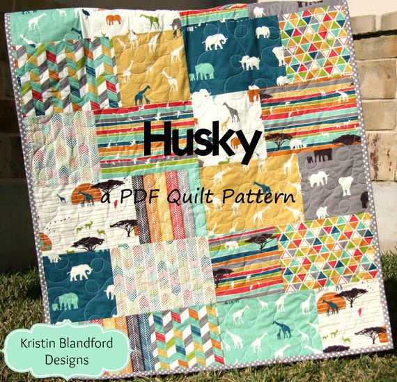 Husky Quilt Pattern Big Block Fat Quarter And Fat Eighth