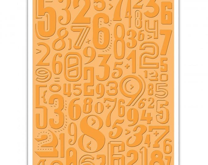 Sizzix Tim Holtz Texture Fades Embossing Folder - Numeric 661827