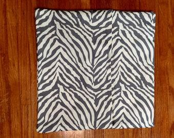 Zebra pattern pillow cover only linen dark grey white cushion cover envelope closure housewares home decor