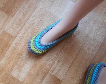 slippers, slippers woman wool handmade crochet