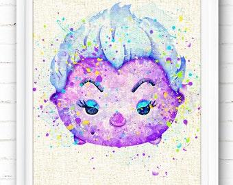 Disney Ursula Print, The Little Mermaid Ariel, Tsum Tsum Birthday, Watercolor Painting, Home Decor, Kids Decor, Nursery Decor, Gifts NA423