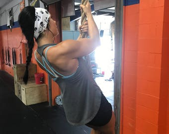 Skulls | Yoga Headband | Workout Headband | Fitness Headband | Running Headband | Wide Headband | Pilates Headband | Barre Headband