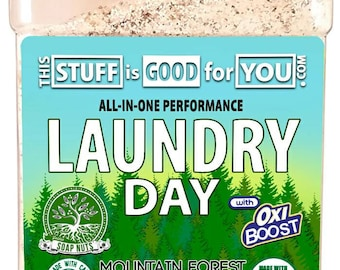 64oz Laundry Day Soap Nuts Mountain Forest All-Performance Organic Laundry Soap (120+LOADS)