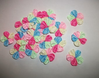 10 flower appliqués / multicolor - deco couture - on baby and other... 3.5-